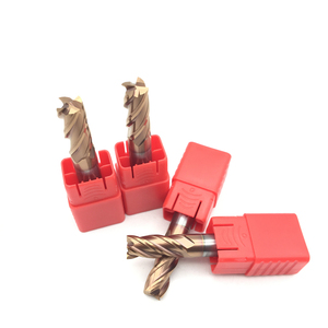 1 шт. Концевая фреза 10 мм HRC60 4F D10 * 75L твердосплавный прямой хвостовик спиральные плоские концевые фрезы токарный станок с ЧПУ металлообрабат...