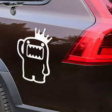 HotMeiNi 3 Sizes 10 Colors Cool Cartoon Style Crown Salute Domo Funny Car Stickers for Truck Laptop Kayak Car Decor Vinyl Decals(China)