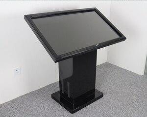 42 47 50 55 pulgadas pie infrarrojos Pantalla táctil lcd HD 1080P panel negro interactivo Horizontal Monitor guía muestra pc