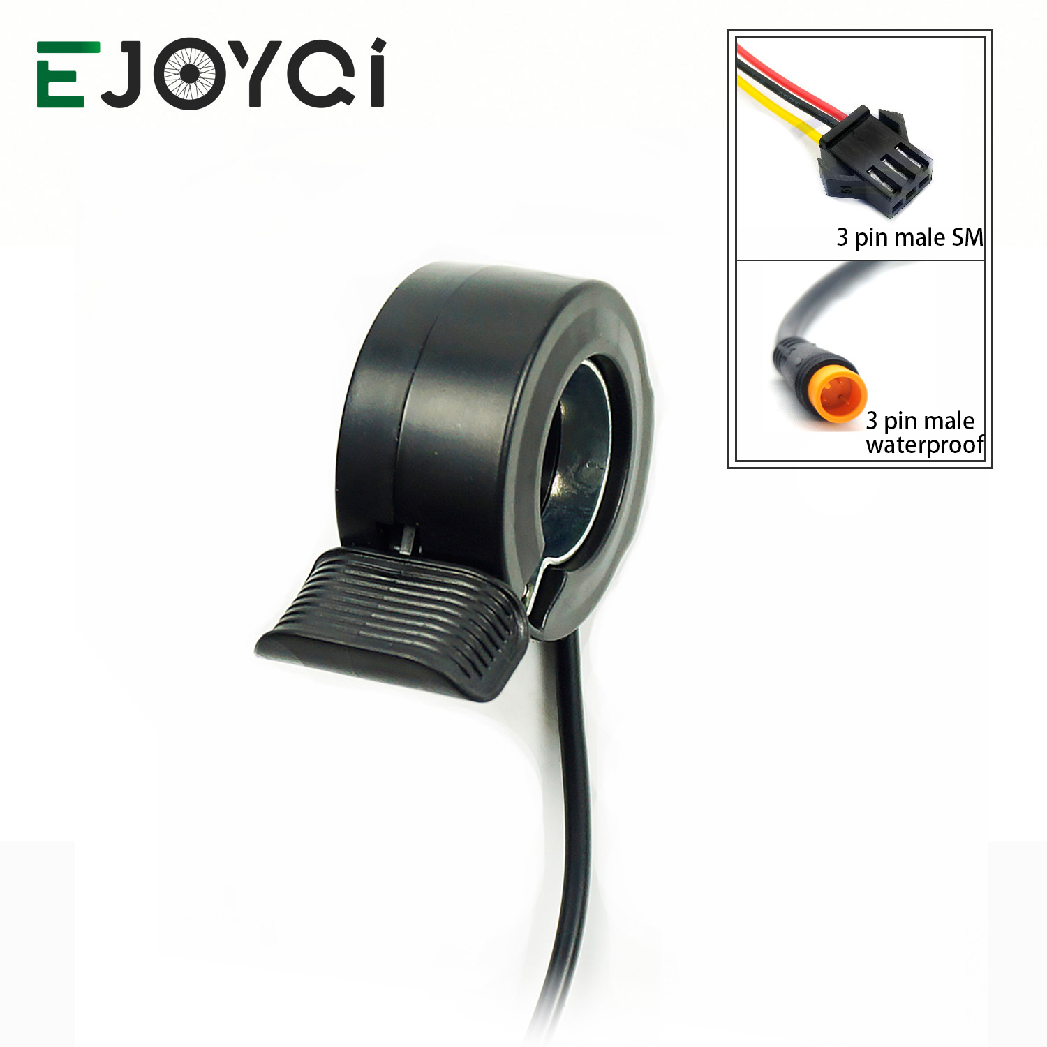 EJOYQI Wuxing E-bike 130X Thumb Throttle 24V 36V 48V 60V 72V SM Waterproof Connector Electric Bicycle Accessories