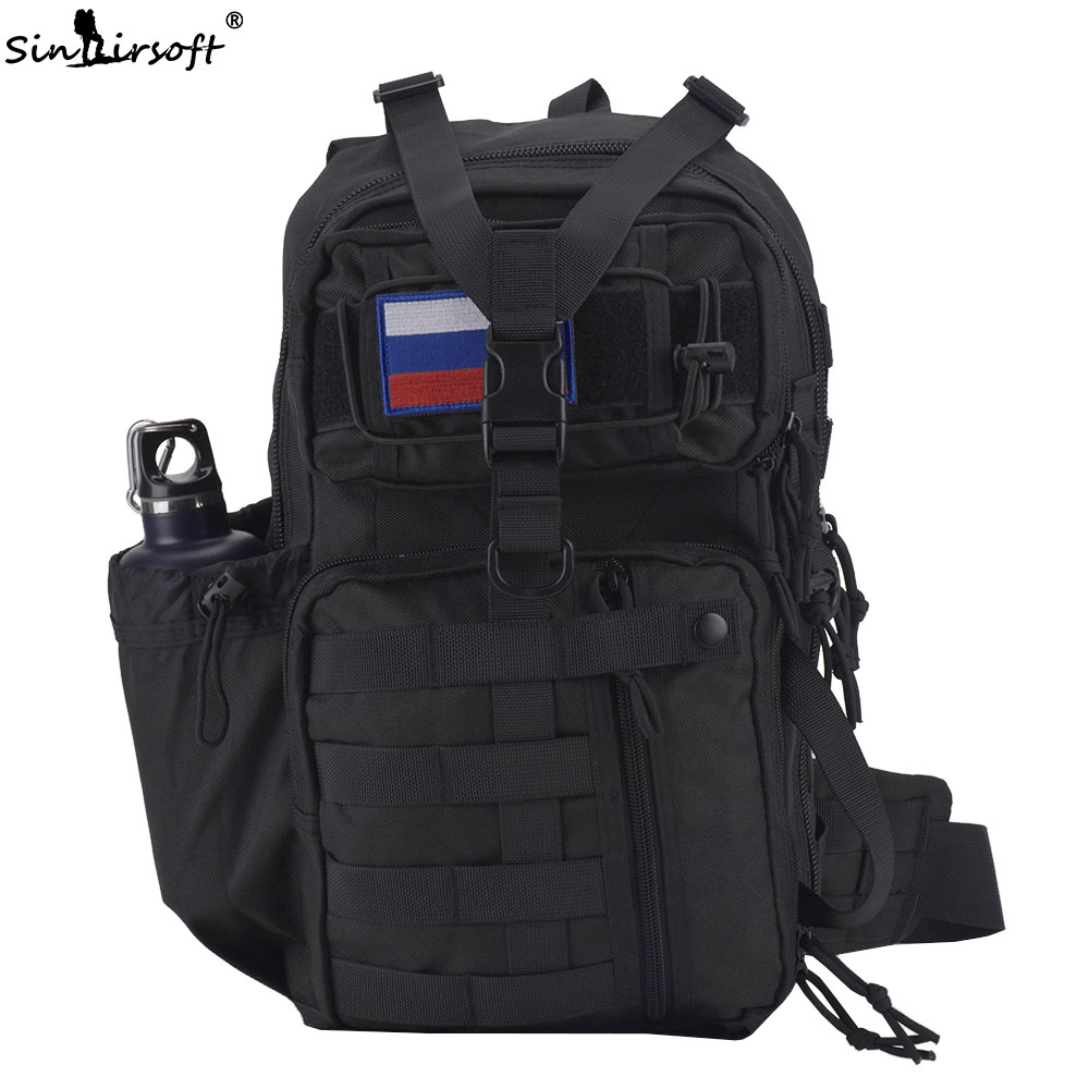 SINAIRSOFT 25L Tactical Backpack 900D Nylon 14 Inches laptop Crossbody Molle Rucksack Sport Camping Hiking Fishing Shoulder Bags sinairsoft military tactical backpack 35l rucksack 14 inches laptop fishing molle system backpack trekking bag gear ly0020