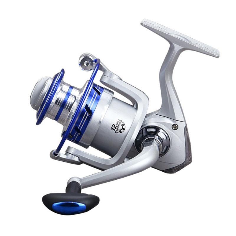 12BB Ball Bearing 5.5:1 Speed Ratio Metal Carp Fishing Reel Spinning Wheel Tackle Kit Single Konbs carretilha peche a la carpe ...