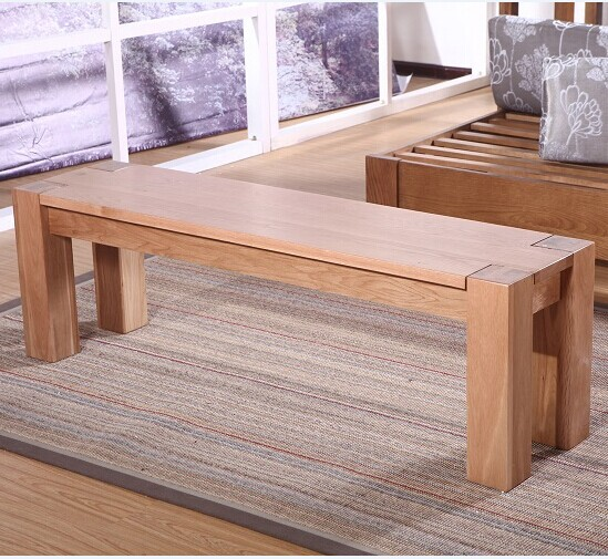 Japonés roble blanco de madera sólida banco madera cama de madera ...