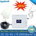 Lintratek conjunto de banda Dual 2g 3g 4g LTE repetidor de 1800 a 2100 MHz GSM DCS WCDMA móvil señal de celular de amplificador de potencia wifi
