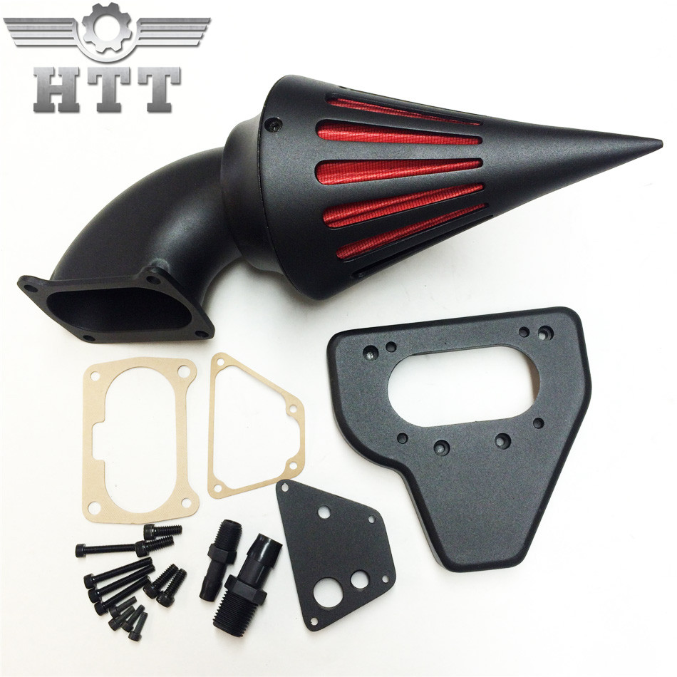 Aftermarket motorcycle parts Spike Air Cleaner intake filter kits for 2002-2009 Hond VTX 1800 BLACK epman universal 3 aluminium air filter turbo intake intercooler piping cold pipe ep af1022 af