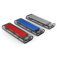 case hd Pcle NVMe SSD Enclosure M.2 USB3.1 Type C Sata to usb HDD Case M Key 2230 2242/2260/2280/SSD Box for Laptop PC & Phone