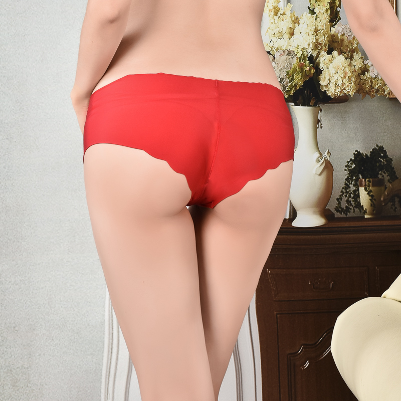 High Quality Plus Size Underwear Women Briefs Smooth Seamless Sexy Panties 8 Solid Color Brand Women Underwear Briefs