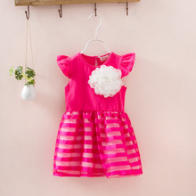 Special Offer Retail In The Summer Of 2016 The New Girls Lace Sleeveless Dress Three Color 3-9 t Free Postage