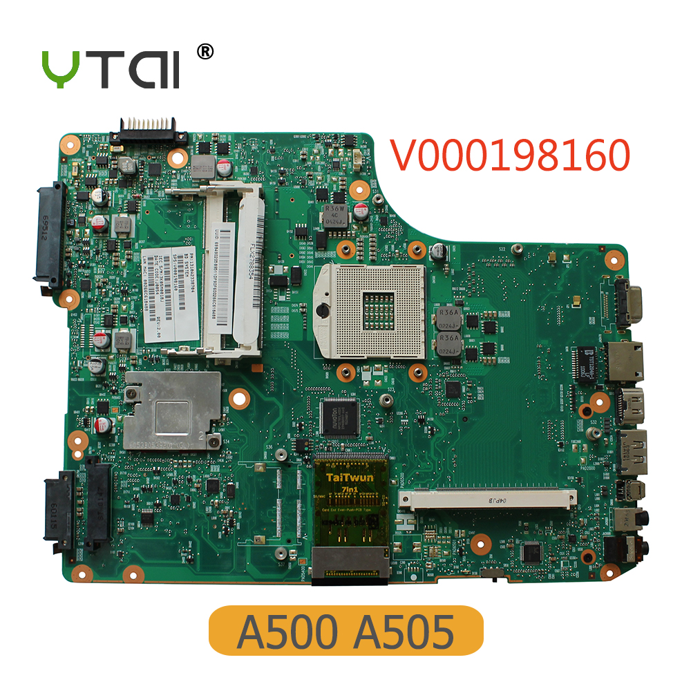 YTAI V000198160 for Toshiba Satellite A500 A505 Laptop Motherboard PGA989 HM55 DDR3 6050A2338701-MB-A01 mainboard original n73sv rev2 0 laptop motherboard fit for asus n73sv notebook pc mainboard gt540 1g pga 989 2ddr3