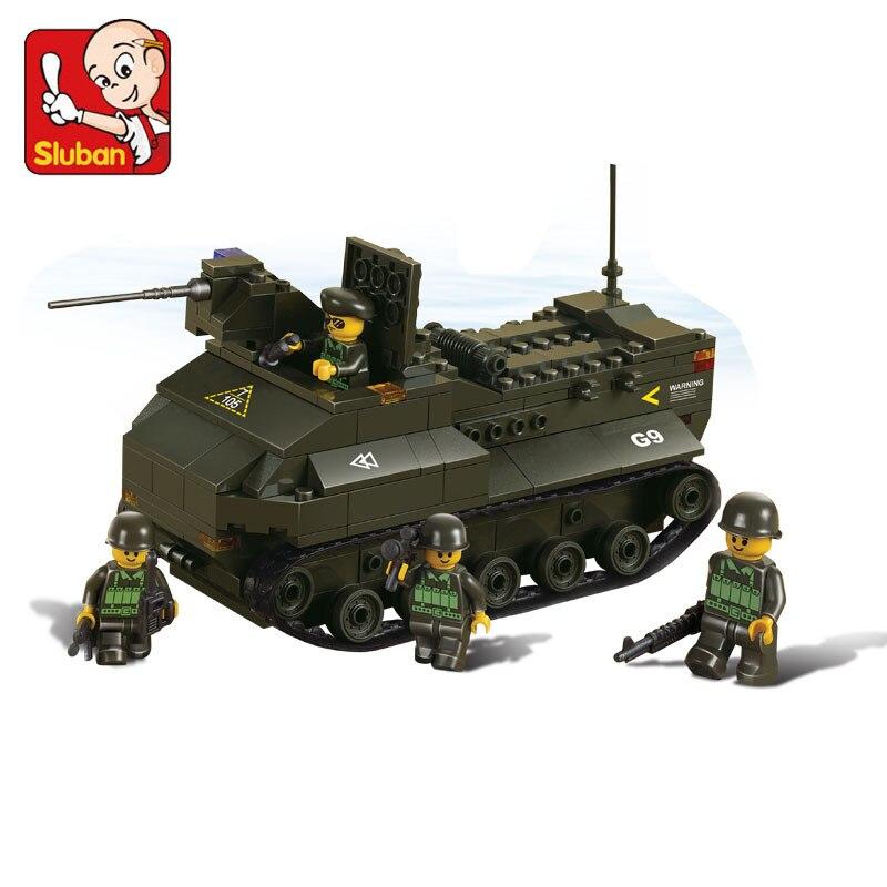 SLUBAN Military Military land forces Serie Amphibious tank Building block set Compatible With Lego tank Construction Model Brick hobbyboss rising soviet type 37 amphibious tank t early 83818