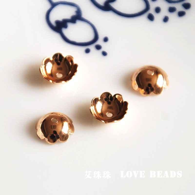 Toptan 10 adet/grup altın altın kaplama boncuk caps takı yapımı el sanatları bulguları bileşenleri aksesuarları DIY kadınlar için