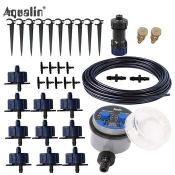 10 m Automatische Micro Drip Irrigatiesysteem Tuin Druppelaar Set Watering Kits met Reduceerventiel # 21025WA