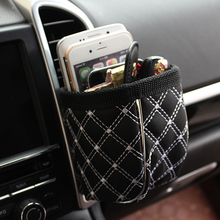 Car Outlet Air Vent Clip Trash Box Phone Holder Organizer Auto Sun Glasses Holder Storage Box for BMW Car Accessories Styling