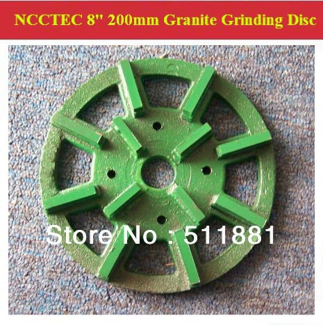 [1st step] 8'' NCCTEC Diamond Stone slabs Grinding Disc | 200mm granite abrasive wheels plate | 12 segments iron base grit 50# stone abrasive grinding plane stone flower pot base diameter 45 super wear