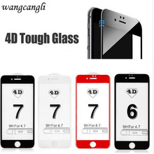 Wangcangli 5D screen protection for iPhone6 plus 4D exercise full coverage curve protective glass