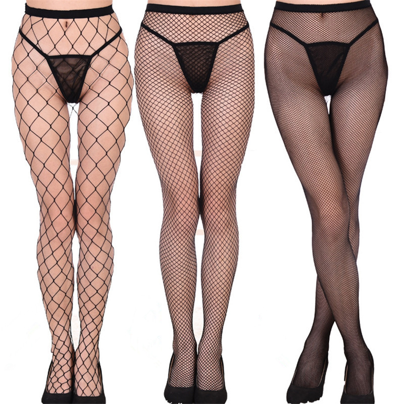7 Colors Sexy Mesh Pantyhose Female Fishnet Tights Women Thigh High Stockings Club Party Hosiery Over the Knee Socks