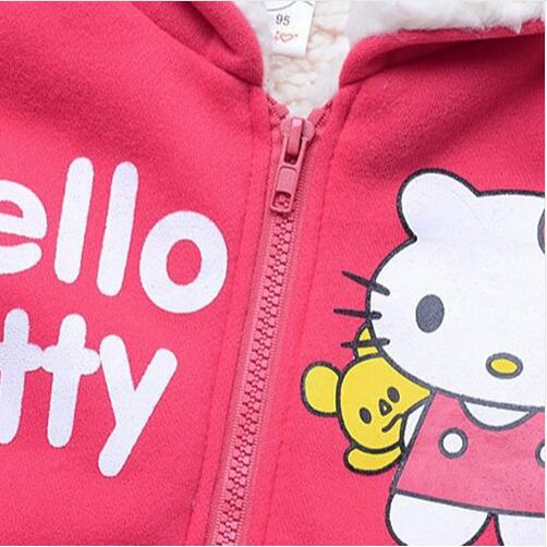 6f8933ced Retail Baby girls Cartoon Hello Kitty Winter fur coat,children outerwear, girls cotton thick warm hoodies jacket kids clothes-in Jackets & Coats from  Mother ...