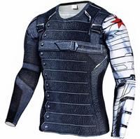 Mens Compression Shirt Superhero Superman Capitan America Iron Man 3D T Shirt Brand Clothing Fitness 198