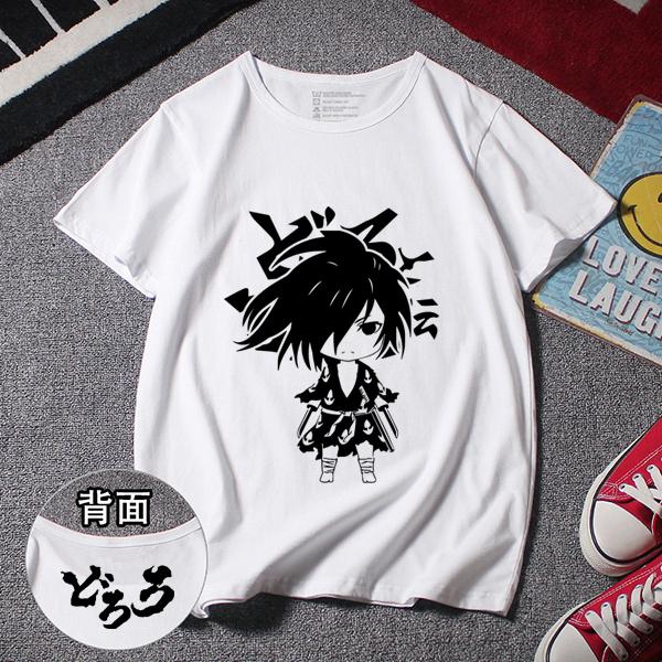 Dororo Hyakkimaru Camiseta Estampada de Manga Corta (5 Colores)