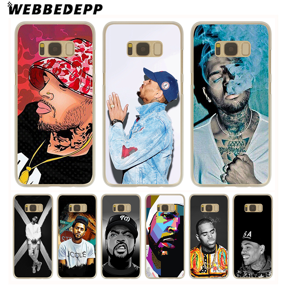 WEBBEDEPP Chris Brown Breezy RNB Hard Transparent Cover Case for Galaxy S6 S7 Edge S9 S8 Plus S5 S4 S3 & Mini ...