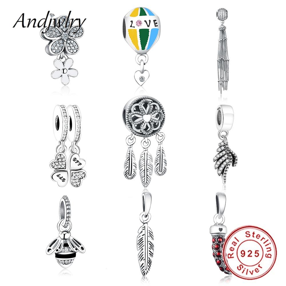 Fit Original Pandora Charms Bracelet 925 Sterling Silver Charms Spiritual Dream Catcher Dangle Charm Beads DIY Jewelry Berloque