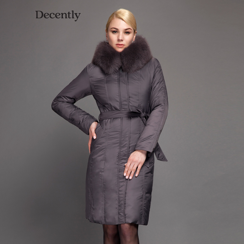 Decently 2015 Winter Women Long Down Jacket Fashion Coat Duck Down Free Shipping Hooded Pocket Natural