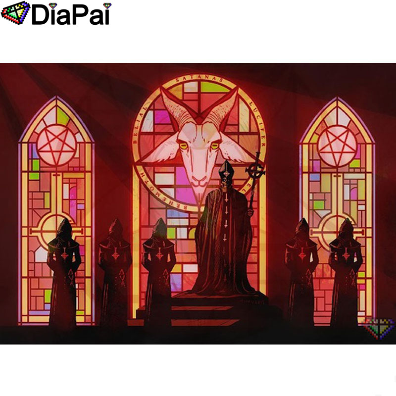 "DIAPAI 5D DIY Diamond Painting 100% Full Square/Round Drill ""Religious figure"" Diamond Embroidery Cross Stitch 3D Decor A22805(China)"