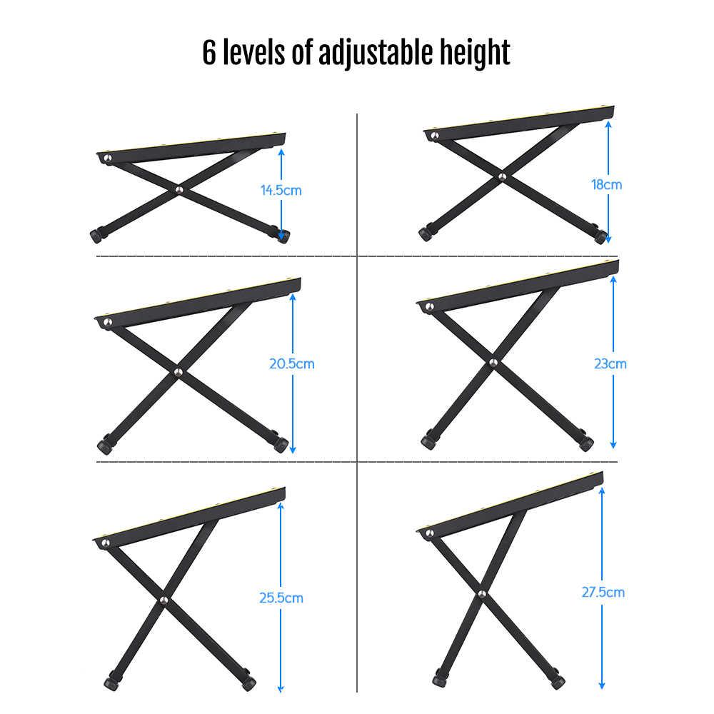 المحمولة طوي المعادن الغيتار القدم بقية البراز دواسة 6-مستوى قابل للتعديل ارتفاع
