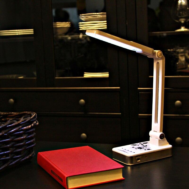 YAGE 3986 <font><b>Led</b></font> Desk <font><b>Lamp</b></font> 1.8W Adjusted lexibly Table Light Non-limit Brightness 30pcs <font><b>LED</b></font> AC 110V-220V Black/White USA/<font><b>EU</b></font>/UK <font><b>Plug</b></font>