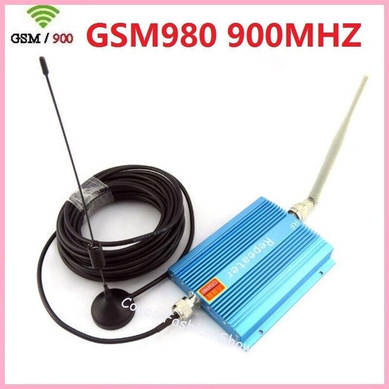 Amplificateur de signal de téléphone portable modèle GSM 980 GSM, amplificateur de répéteur de signal de téléphone portable GSM 900 Mhz avec antenne extérieure intérieure