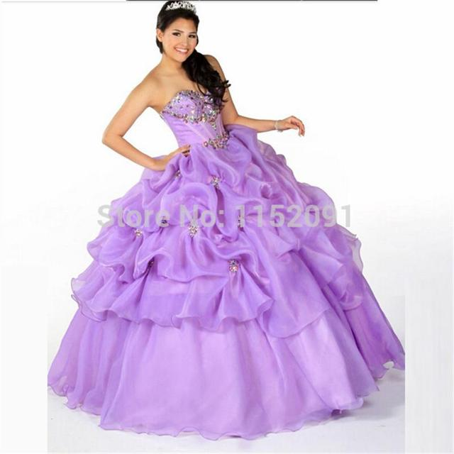 3decd102ef quinceanera 15 years vestidos de 15 anos 2016 Ball own Ruffles Lilac Light  Blue Birthday Party Dress With Jacket Lace Up Prom