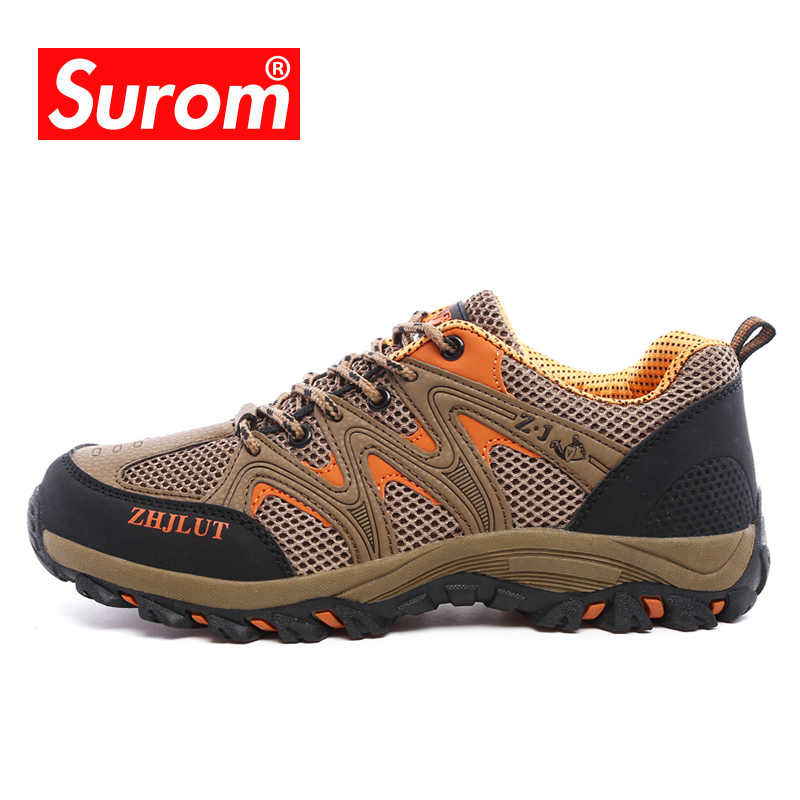 SUROM Unisex Hiking Shoes Outdoor Non-slip Trekking Shoes Air Mesh Breathable Krasovki Men&women SummerSUROM Unisex Hiking Shoes Outdoor Non-slip Trekking Shoes Air Mesh Breathable Krasovki Men&women Summer