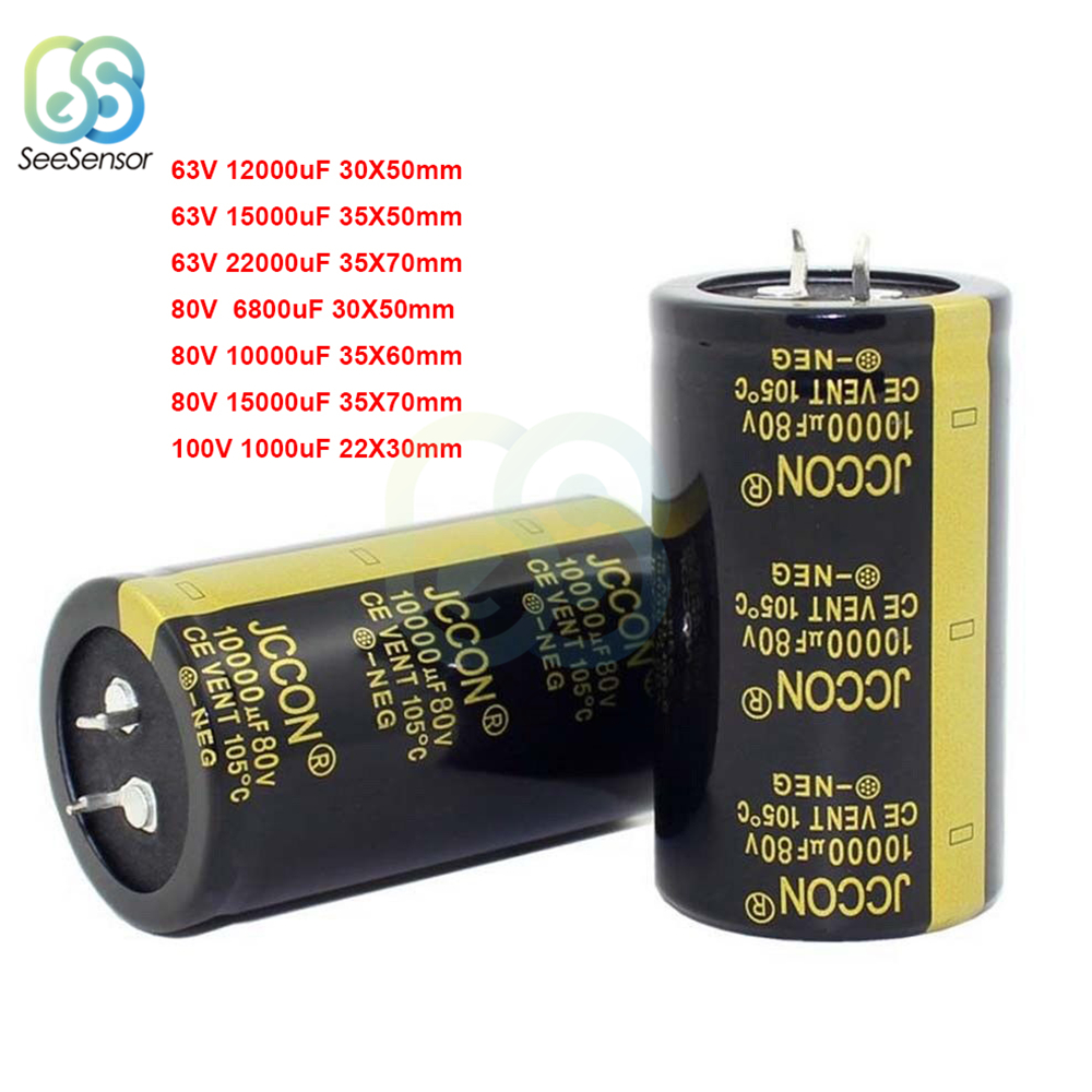 63V 80V 100V Electrolytic Capacitor For Audio Amplifier Inverter Power 1000uF 6800uF 10000uF 12000uF 15000uF 22000uF