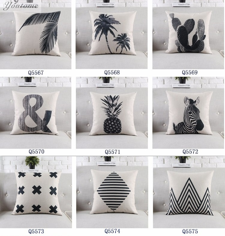scandinavian fashion throw pillows pineapple decorative pillows cover chair cushion black and white decorative pillows for - White Decorative Pillows