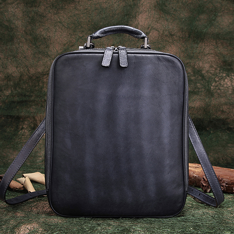 2018 Genuine Leather Travel Backpack Unisex Cow Leather Women Shoulder Bags Cow Leather Backpack Top Handle Rucksack Bags 2017 new style genuine leather women bags punk women double shoulder bags black cow leather casual travel backpack
