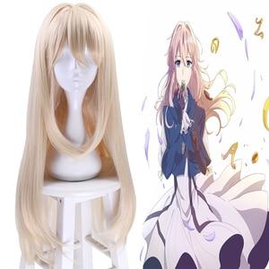 Image 1 - Anime Violet Evergarden Cosplay Wigs Evergarden Cosplay Hair Wig Heat Resistant Synthetic Wig Halloween Party Women Cosplay Wig