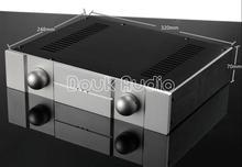 Douk Audio New Aluminum Chassis Amplifier Enclosure DIY Case DAC House Box (W320*H70*D248mm)