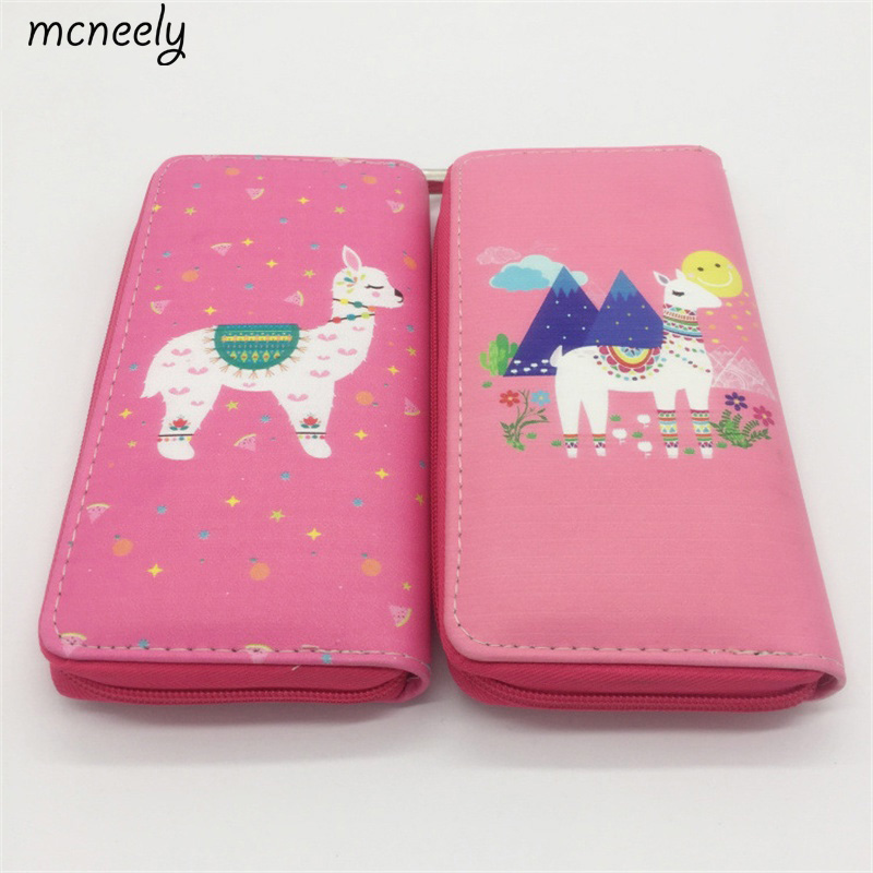 460730ff4 Lovely Alpaca Pattern Women Long Wallet Clutch Purse Wallet Purse For Women  Purse Card Holders image