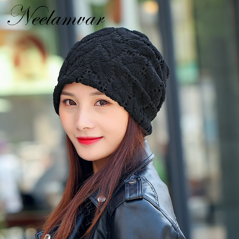 New Skullies Beanies Autumn Winter Hat For Women Warm velvet Knitting Cap  Leisure Fashion Hats