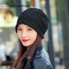 New Skullies Beanies Autumn Winter Hat For Women Warm Hat velvet Knitting Warm Cap Warm  Hat Cap Leisure Fashion Winter Hats 2016 new autumn winter star pattern women beanies knitted hat plus velvet warm gorro cap