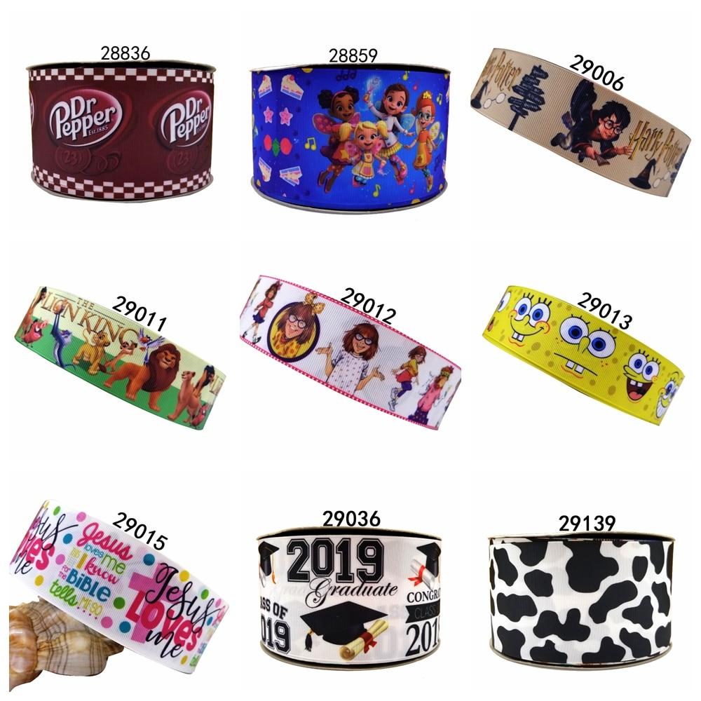 Free Shipping 2019 New Arrival Ribbons Hair Accessories Ribbon 10 Yards  Printed Grosgrain Ribbons 29013