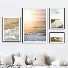 Sea Beach Horse Scenery Wall Art Canvas Painting Nordic Posters And Prints Pictures For Living Room Scandinavian Home Decor
