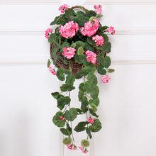 Artificial flowers home decorate Weddings hanging fake Wall decor vine Begonia rattan silk rose string Garland