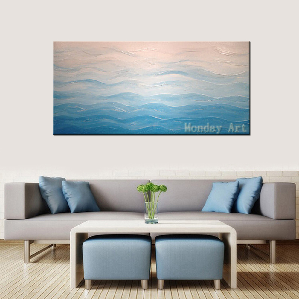 Hand Painted Abstract Oil Painting Wall Decor handpainted Canvas Painting colorful picture wall art For Living Room Decoration in Painting Calligraphy from Home Garden