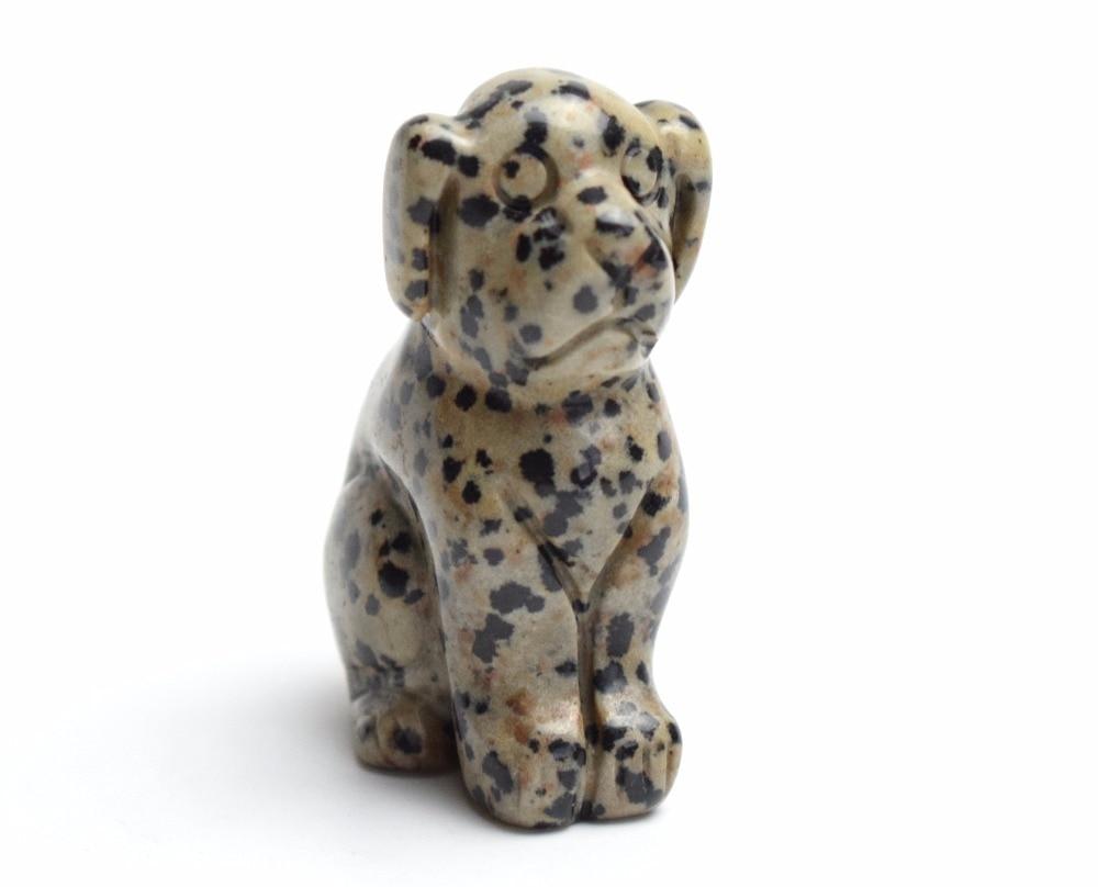 "1.5/"" Natural Dalmation Jasper Turtle Tortoise Carved Craft Healing Reiki Gift"