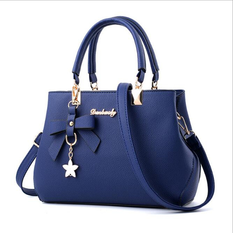 7c6bb3d1b4ec1 Señoras de cuero estrella de cinco puntas bolsa de mensajero del bolso de  hombro