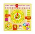 Календарь часы головоломки висит деревянная доска детей дети раннего образования игрушки узнать время сезон погода месяц