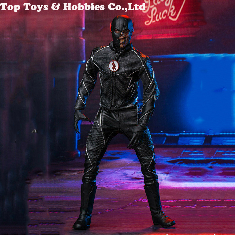 For Collection Soosootoys SST010 1/6 Dark Speedster Black Flash Figure Box Full Set Doll Collection