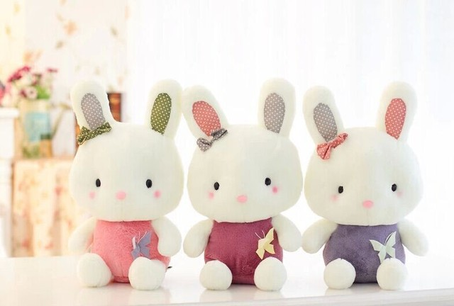 Free Shippin 25cm 9 8 Very Cute Bunny Rabbit Stuffed Animals Plush