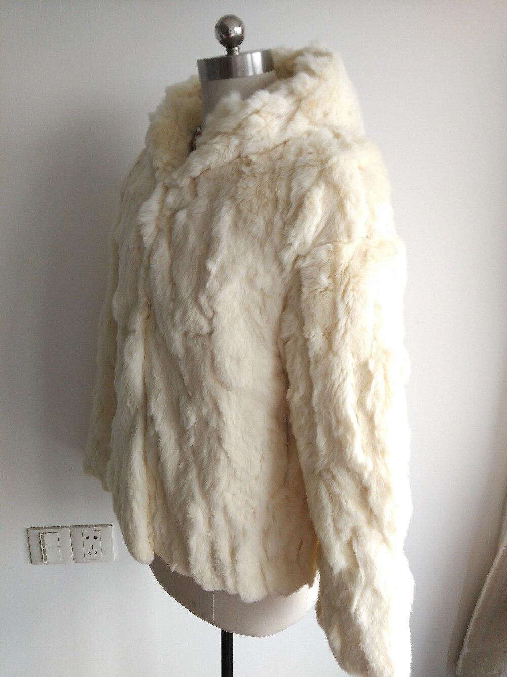Manteau Épais black Beige 2019 Veste Fourrure Vintage Naturelle Mode Réel Rex De grey Lapin Nouvelle Avec Capuche Femmes Chaud Sr137 wnTxHn4fO8